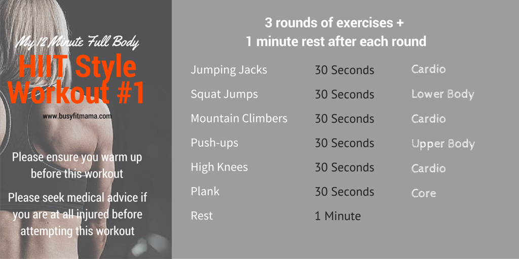 HIIT Style Workout